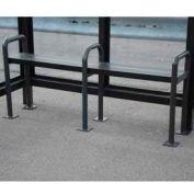 Anti Vagrant Bench for 10' Shelter, Bronze