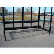 Bench for 12' Bus Smoking Shelter, Bronze