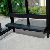 ADA Bench for 12' Bus Smoking Shelter, Bronze