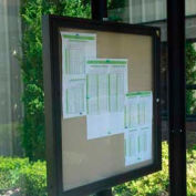 Weather resistant Bulletin Schedule holder Bronze 24 x 36