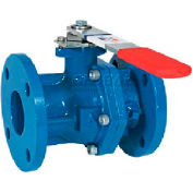 "American Valve 3700-4 Ball Valve, Flanged, 4"", Epoxy Coated Cast Iron"