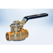 American Valve 1/2 In. Lead-Free Brass Full Port Ball Valve - Solder Ends - Pkg Qty 30