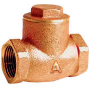 "American Valve G31-1 Check Valve, Lead-Free, Threaded, 1"", Brass - Pkg Qty 12"