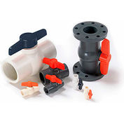 American Valve 1 In. PVC 1-Piece Ball Valve - Sche. 40 - 150 PSI - Socket - Pkg Qty 12