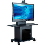 AVTEQ GMP-200M-TT1 Videoconferencing A/V Cart, Steel, Black