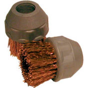 "AmeriVap Systems 1"" Small Bronze Detail Brush, 4/Pack - GVA-8B"