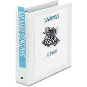 """Economy Reference View Binders, 2"""" Capacity, White"""