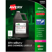 "Avery® GHS Chemical Waterproof & UV Resistent Labels, Laser, 4"" x 4"", 200/Box"