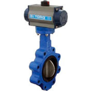 """BI-TORQ 2.5"""" Wafer Style Butterfly Valve W/ Viton Seals and Dbl. Acting Pneum. Actuator"""