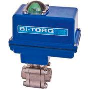 """BI-TORQ 1-1/4"""" 3-Pc SS NPT Fire Safe Ball Valve W/Spring Ret. Pneum. Actuator"""
