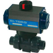 "1-1/4"" 2-Way PVC Ball Valve W/Dbl. Acting Pneum. Actuator"