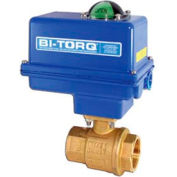 "BI-TORQ 1/2"" 2-Pc Brass NPT Ball Valve W/NEMA 4 115VAC/4-20mA Positioner"