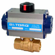 "BI-TORQ 1-1/4"" 2-Pc Brass NPT Ball Valve W/Dbl. Acting Pneum. Actuator"
