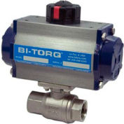 "BI-TORQ 1-1/2"" 2-Pc SS NPT Ball Valve W/Dbl. Acting Pneum. Actuator"