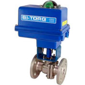 "BI-TORQ 2"" SS Split Body ANSI 150# Flanged Ball Valve W/NEMA 4 115VAC"