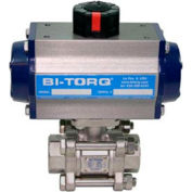 "4"" 3-Pc SS NPT Ball Valve W/Dbl. Acting Pneum. Actuator"