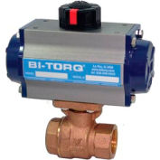 "3/4"" 2-Pc Bronze NPT Ball Valve W/Dbl. Acting Pneum. Actuator"