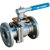 "3/4"" SS Split Body ANSI 150# Flanged Ball Valve With Manual Handle"