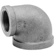 Anvil 2-1/2 In. X 1-1/2 In. Black Malleable Iron 90 Elbow