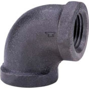 Anvil 1-1/2 In. Extra Heavy Black Malleable Iron 90 Elbow