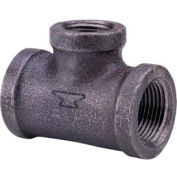 Anvil 1-1/2 In. X 1-1/2 In. X 1-1/4 In. Extra Heavy Black Malleable Iron Tee