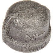 1/2 Black Malleable Cap 150 PSI Lead Free