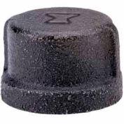 2 In. Black Malleable Cap 150 PSI Lead Free