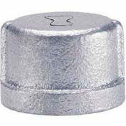1/2 In Galvanized Malleable Cap 150 PSI Lead Free