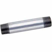 1-1/4 In X 6 In Galvanized Steel Pipe Nipple 150 PSI Lead Free