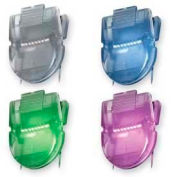 Advantus® Panel Wall Clips, 40 Sheet Capacity, Metallic Colors, 20/Pack
