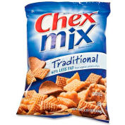 Chex Mix Snack Size, Traditional, 3.75 Oz, 8/Box