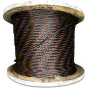"Advantage 500' 1/2"" Diameter 6x19 Fiber Core Bright Wire Rope"