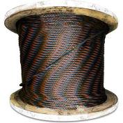 """Advantage 250' 1/4"""" Diameter 6x37 IWRC Bright Wire Rope BIWRC2506X37R250"""