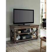"""Wildwood TV Console with Metal Frame for TVs up to 50"""" Rustic Gray Finish"""