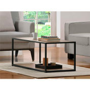 Ameriwood Coffee Table with Metal Frame Sonoma Oak Finish