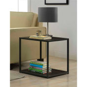 Ameriwood End Table with Metal Frame Espresso Finish