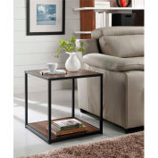 Ameriwood End Table with Metal Frame Cherry Finish