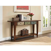 Sage Console Table with Drawers Rustic Finish