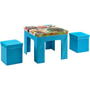 Ameriwood Folding Kids Table & Ottoman Set with Owl Pattern