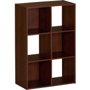 Ameriwood 6-Cube Storage Cubby Bookshelf in Resort Cherry Finish