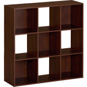 Ameriwood 9-Cube Storage Cubby Bookcase in Resort Cherry Finish