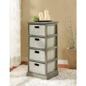 Ameriwood Storage Unit with 4 Baskets