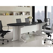 Pursuit Large Conference Table White and Gray Finish