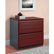 Pursuit 2-Drawer Lateral File Cabinet Cherry and Gray