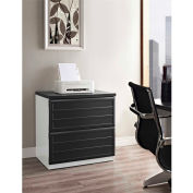 Pursuit 2-Drawer Lateral File Cabinet White and Gray
