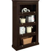 Ameriwood Barrister Bookcase with 4 shelves and Espresso Finish
