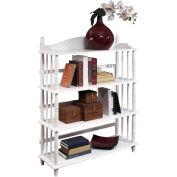 Ameriwood Daysha 4-Shelf Spindle Leg Bookcase White Finish
