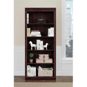 Ameriwood Monterrey 5-Shelf Bookcase Cherry Finish