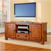 """Summit Mountain TV Stand for 55"""" TVs Antique Bronze Finish"""