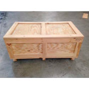 "Wood Crate Two-Way Entry, 48"" L x 48"" W x 42"" H"